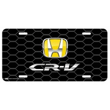 Honda CR-V Yellow Logo on Black Hex License Plate