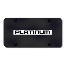 Nissan Platinum Chrome on Black License Plate