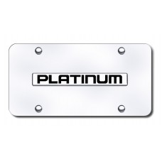 Nissan Platinum Chrome on Chrome License Plate