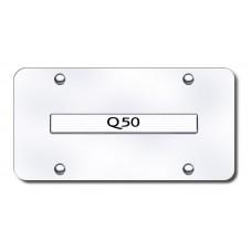 Infiniti Q50 Chrome on Chrome License Plate