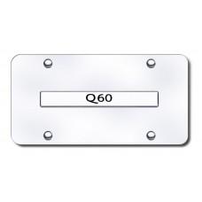 Infiniti Q60 Chrome on Chrome License Plate