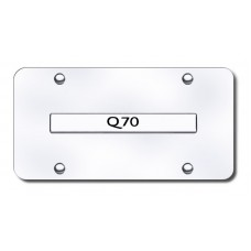 Infiniti Q70 Chrome on Chrome License Plate