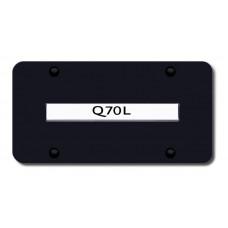 Infiniti Q70L Chrome on Black License Plate