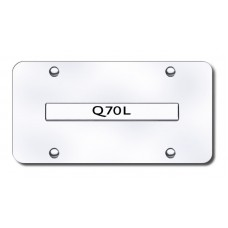 Infiniti Q70L Chrome on Chrome License Plate