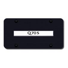 Infiniti Q70S Chrome on Black License Plate