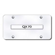 Infiniti QX70 Chrome on Chrome License Plate