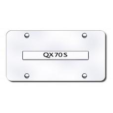 Infiniti QX70S Chrome on Chrome License Plate