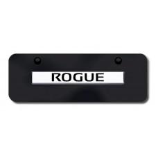 Nissan Rogue Chrome on Black Mini License Plate