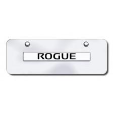Nissan Rogue Chrome on Chrome Mini License Plate