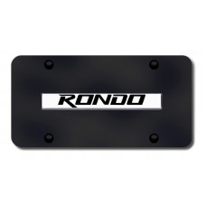 Kia Rondo Chrome and Black License Plate
