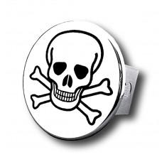 Skull Chrome Trailer Hitch Plug