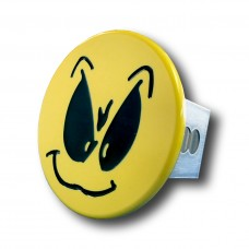 Smiley Face with Grimace Chrome Trailer Hitch Plug