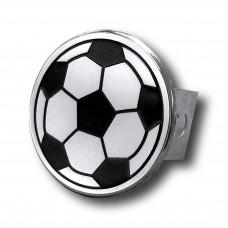 Soccer Ball Chrome Trailer Hitch Plug