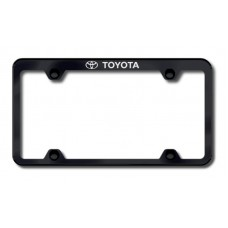 Toyota Top Thin Black Laser Etched License Plate Frame