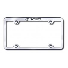 Toyota Top Thin Chrome Laser Etched License Plate Frame