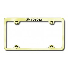 Toyota Top Thin Gold Laser Etched License Plate Frame