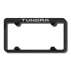 Toyota Tundra Top Thin Black Laser Etched License Plate Frame