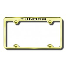 Toyota Tundra Top Thin Gold Laser Etched License Plate Frame