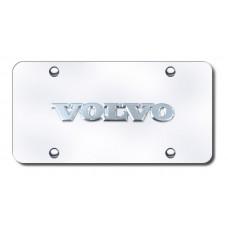 Volvo Chrome on Chrome License Plate