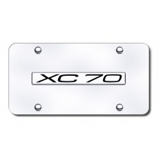 Volvo XC70 Chrome on Chrome License Plate