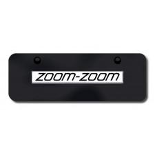 Mazda Zoom Zoom Chrome on Black Mini License Plate