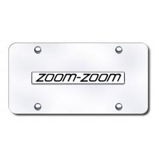 Mazda Zoom Zoom Chrome on Chrome License Plate