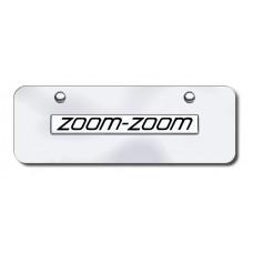 Mazda Zoom Zoom Chrome on Chrome Mini License Plate