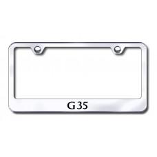 G35 Laser Etched Chrome License Plate Frame