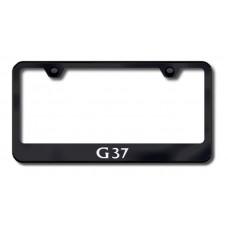 G37 Laser Etched Black License Plate Frame