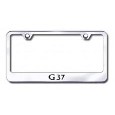 G37 Laser Etched Chrome Metal License Plate Frame