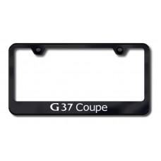 G37 Coup Laser Etched Black License Plate Frame