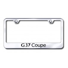 G37 Coupe Laser Etched Chrome Metal License Plate Frame
