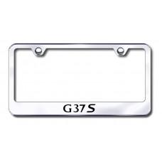 G37s Laser Etched Chrome Metal License Plate Frame