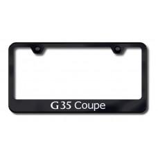 G35 Coupe Laser Etched Black License Plate Frame