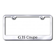G35 Coupe Laser Etched Chrome License Plate Frame