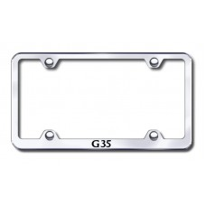 G35 Wide Body Laser Etched Chrome Metal License Plate Frame