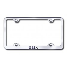 G35X Wide Body Laser Etched Chrome Metal License Plate Frame