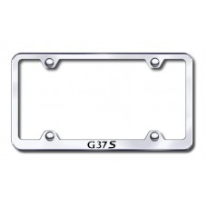 G37S Wide Body Laser Etched Chrome Metal License Plate Frame
