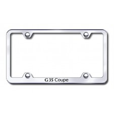 G35 Coupe Wide Body Laser Etched Chrome License Plate Frame