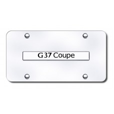 G37 Coupe Name Chrome on Chrome License Plate