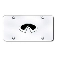 Infiniti Black/Chrome on Chrome License Plate