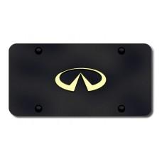 Infiniti Logo Gold on Black License Plate