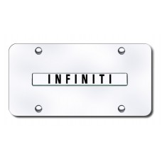 Infiniti Name Chrome on Chrome License Plate