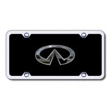 Infiniti Chrome on Black Arcylic License Plate Kit