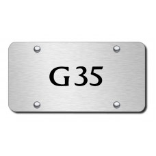 G35 Laser Etched Brushed Stainless Steel License Plate