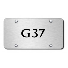 G37 Laser Etched Brushed Stainless Steel License Plate