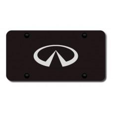 Infiniti Logo Laser Etched Black License Plate