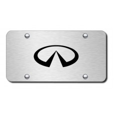 Infiniti Logo Laser Etched Brushed Stainless Steel License Plate