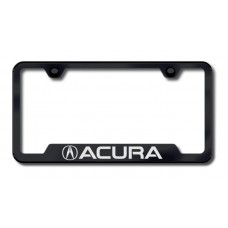 Acura Laser Etched Cut-Out Black License Plate Frame