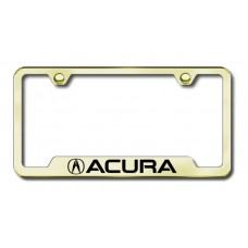 Acura Laser Etched Gold Cut-Out License Plate Frame